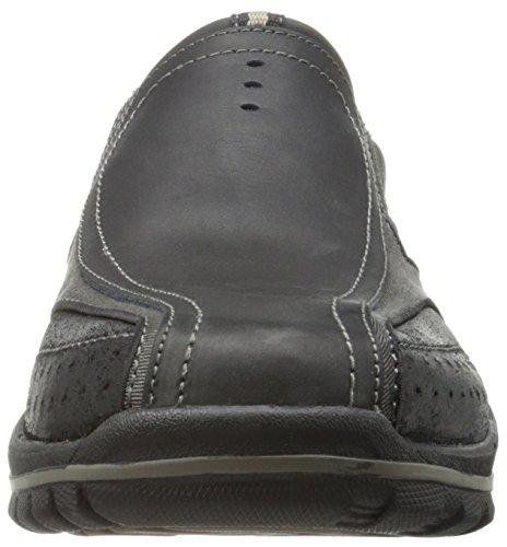 Skechers Vorlezconven, Baskets Basses homme Noir - Noir