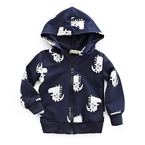 Infant Toddler Baby Boys Girls Zip Up Jumper Dinosaur Hooded Sweatshirt Tops Clothes Coat Newborn Jacket Animal