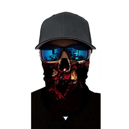 AchidistviQ Cool Skull Design Outdoor Sports Sunscreen Face Mask copricollo Passamontagna Sciarpa Ac047