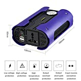 Laurelmartina LESHP 500W Azul Pico 1000 W Convertidor de Potencia de Coche de inversor de energía de Onda sinusoidal Pura con 2 Puertos USB DC 12V para electrodomésticos