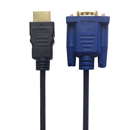 HDMI zu VGA Kabel 6FT, ruitexun HDMI Stecker zu VGA Stecker D-Sub HD 15Pin M/M Adapter Stecker Kabel Kabel-tv Wall Plate