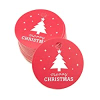 4h6yerf New 100 P cs Candy Package Pendant Xmas Message Card Baking Tag(None RD1)