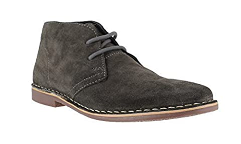 Red Tape Gobi Mens Genuine Suede Lace Up Casual Desert Boots Dark Grey UK 12