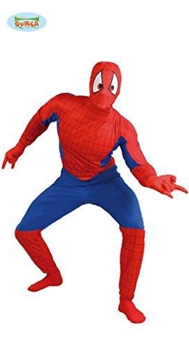 Spinnenmann Superheld - Kostüm für Herren Gr. M/L, (Erwachsene Für Outfit Spiderman)