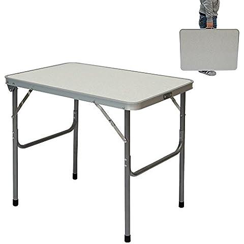 Mesa para acampada | Plegable Portátil | Estructura de Acero | ideal para picnics camping playa jardín etc | aprox. 70x50x60 cm