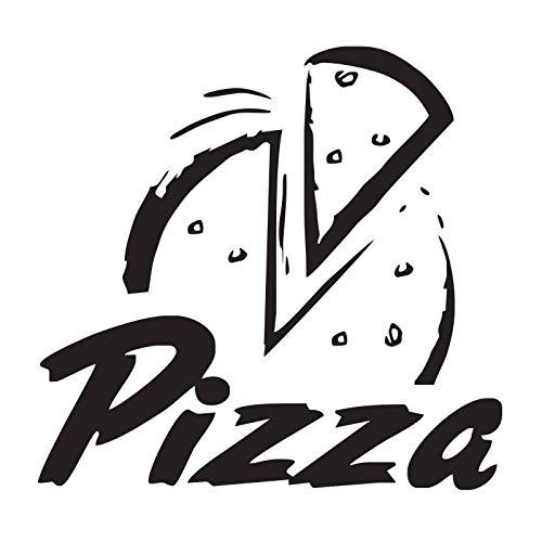 jiushizq Pizza Wandtattoos Vinyl Abnehmbare Restaurant Wanddekor Aufkleber Lebensmittel Innenarchitektur Wandaufkleber Für Küche 44 cm X 46 cm