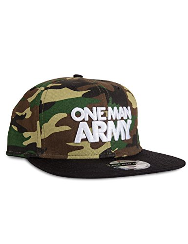 ONE MAN ARMY Camo Snapback Cap, 3D Stick, gerader Schirm, Baumwolle, Tarnfarbe