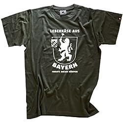 Leberkäse aus Bayern formte diesen Körper - Grill BBQ Party T-Shirt Olive XXL