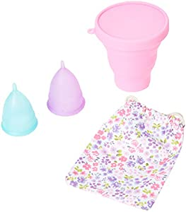 Melyth Menstrual Cups 3X - (2X Large & 1x Small) - Free Foldable Cup - Find Your Perfect Fit - Best Alternative to Tampons and Cloth Sanitary Napkins