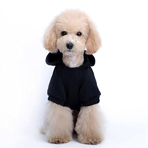 LHWY New Fashion Haustier Skeleton Kleidung Sport Hooded Schwarz Hund Party Halloween Kostüm for Tiere Welpen (XS)