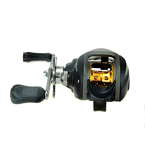 Docooler 10BB 6.3:1 Right Hand Bait Casting Fishing Reel 9Ball Bearings and One-Way Clutch High Speed