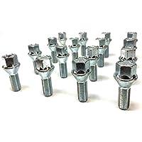vwtour HEYNER Wheel locking bolts 085//5-BLACK M14x1.5x27 Thatcham Quality Assured
