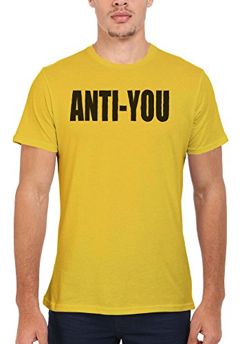 Anti you Tumblr Fashion Blogger Men Women Damen Herren Unisex Top T Shirt Licht Gelb