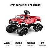 LBLA RC Camion Militaire Voitures de Sport Tout-Terrain 4WD 2.4 Ghz véhicule sur chenilles Wi-FI HD Caméra Cadeaux Enfants Adultes(Inclus 2 Sortes de Roues)