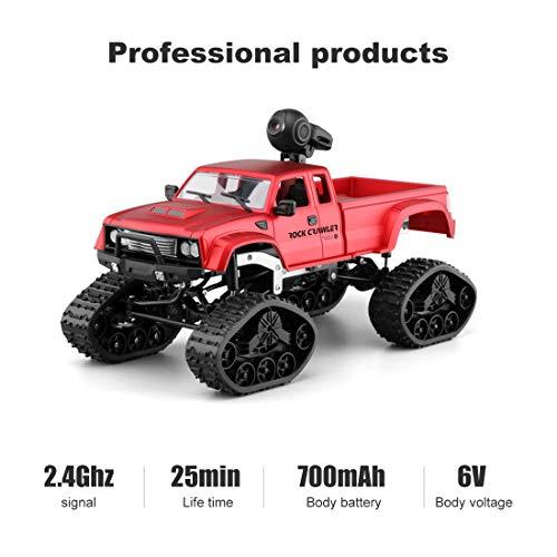 Auto Kamera 480P HD WiFi FPV 1:16 Skala Geländewagen Fernbedienung Auto 2,4 Ghz 4WD (Enthaltene 2 Kinds Räder) ()