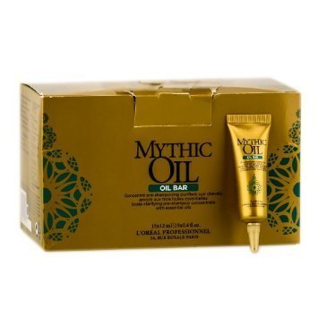 L'Oreal Mythic Oil OIL BAR Scalp Clarifying Pre-Shampoo Concentrate With Essential Oils (15 x 0.4 oz.) by L'Oreal