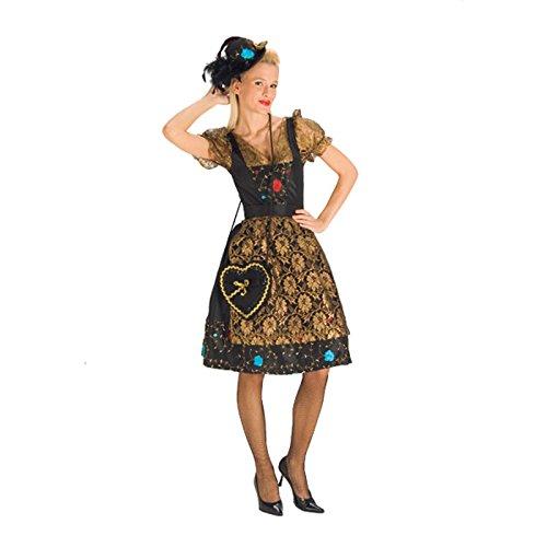 Lurex-karo-shirt (Elbenwald Edles Trachten Damenkostüm für Oktoberfest, Wiesn und WASN - 36/38)