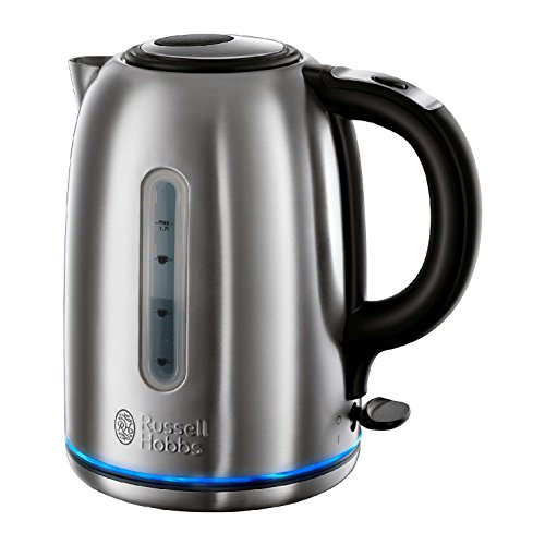 Russell Hobbs Buckingham Quiet Boil Kettle 20460, 1.7 L, 3000 W - Brushed Stainless Steel Silver Test