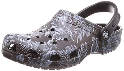 crocs Unisex-Erwachsene Classic Seasonal Graphic U Clogs, Schwarz (Black/Tropical 0ff), 41/42 EU -