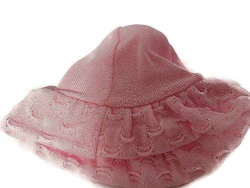 Angelina Hat Mädchen Strick breit Floppy Krempe Hut Farbe Pink (Hat Floppy Brim)