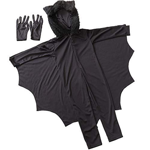Batman's Kostüm Eltern - Cosqaye Halloween Batman Kleidung Onesies Eltern-Kind-Kostüme Partykleid Cape (160-170cm)