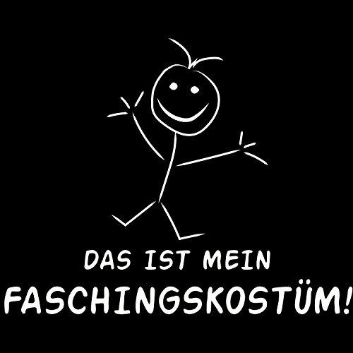 Das ist mein Faschingskostüm! - Damen T-Shirt von Fashionalarm   Fun Shirt Spruch Karneval Fasching Helau Alaaf Verkleidung Kostüm Spaß Schwarz