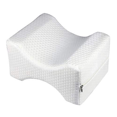 SAWEY Orthopädisches Knie-Stützkissen, ergonomisches Knie-Stützkissen für Seitenschläfer, Knie-Kissen für bequemes Schlafen, Druckentlastungskissen, Gel-Bein-Kissen für Schmerzlinderung