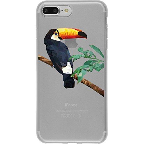 PhoneNatic Case für Apple iPhone 8 Plus Silikon-Hülle Vektor Tiere M4 Case iPhone 8 Plus Tasche + 2 Schutzfolien Design:05