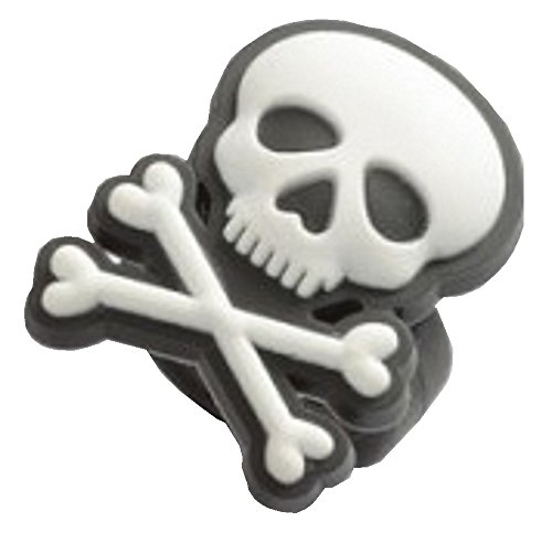 Pirat Skull Totenkopf Ring, Gummi verstellbar Halloween Ringe, inkl. Geschenkbeutel