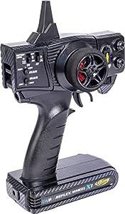 Carson 500500096 500500096-FS Reflex X1 - Receptor de Radio (2 Canales, versión de Fibra de Carbono 2.4G, para construcción de maquetas, Accesorios, Control Remoto), Color Negro