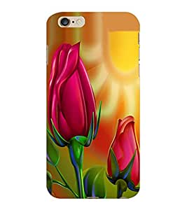 ColourCraft Love Flowers Design Back Case Cover for APPLE IPHONE 6S PLUS