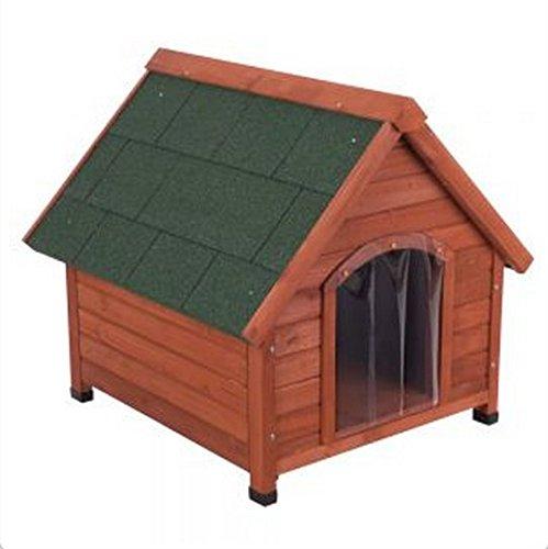 Doppelwandige Hundehütte aus Holz, Schutz vor Hitze und Kälte über das ganze Jahr, ideal für Hunde, die im Freien leben