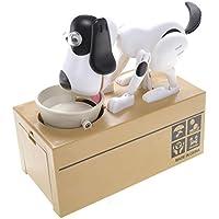 Preisvergleich für powertrc Spielzeug Figur Hund Piggy Bank (weiß schwarz)
