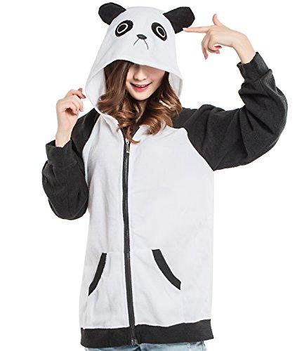 Unisex Tier Kapuzenpullover Erwachsene Cospaly Jacke Panda Geeignet für Hohe 140-187 CM (Liebhaber Sweatshirt Adult)