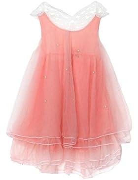 Amlaiworld Mädchen Kleider Sommer Fashio Baby Mädchen Pure Farbe Perle Princess Tutu Kleid