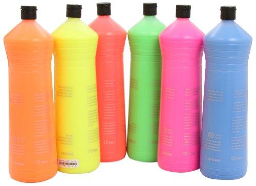 Scolaquip Artmix - Pintura en colores flourescentes surtidos, 6 x 600 ml