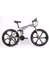 MLL Bicicleta Plegable, Doble Disco de Freno, Velocidad de Frenos, Bicicleta de Montaña