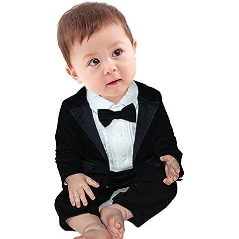 YIZYIF 2Pcs Mamelucos De Niños Bebé Caballero Y Conjuntos De Traje Para 0-24 Meses