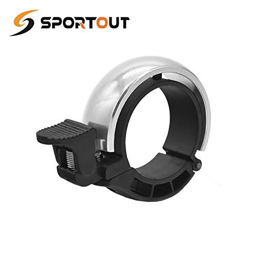 Sportout Aluminiumlegierung Innovative Fahrradklingel Fahrrad Ring mit Lauten Klaren Klaren Kla, für Lenker von 22,2 bis 31,8 mm(Blue) (Blue, 22.2-31.8MM) (Blue(22.2-31.8mm) (Silver, 22.2mm — 31.8mm)