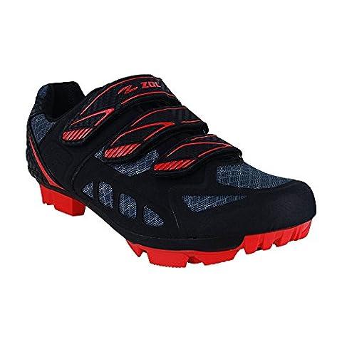 //Predator VTT Vélo de montagne et d'intérieur Chaussures de, noir/rouge, 38 CM (EU)/ 6 Men (US)/ 7.5 Women