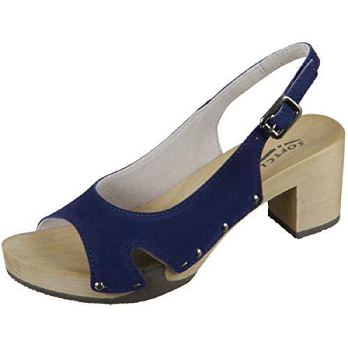 Cuero Mujer Softclox Sling Vestir Para MarinoAzulTalla Sandalias Azul Eu De 38 7vgbf6yY