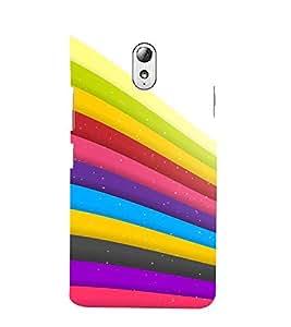Fiobs Designer Back Case Cover for Lenovo Vibe P1M :: Vibe P1m (Curves Color Colorful Patterns Dedsigns)