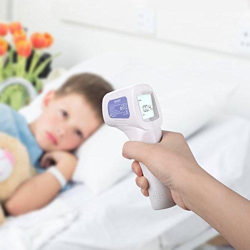 Termómetro Digital Frente Infrarrojo  HYLOGY Termómetro Médico Multifunción sin Contacto apto para Bebé  Adultos y Objeto con Certifica CE/RoHS/FDA
