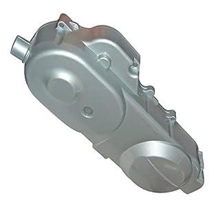 Xfight-Parts Motorgehaeusedeckel li Silber 400mm 10Zoll 4Takt 50ccm 139QMA/QMB