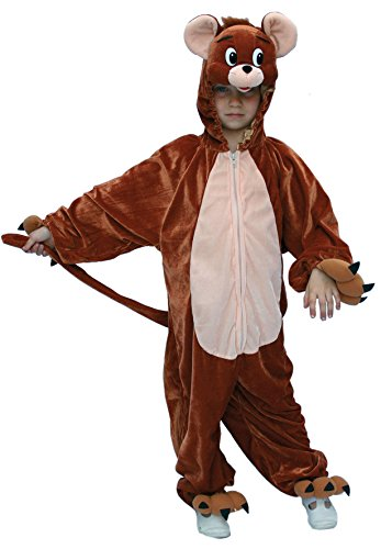 Karneval-Klamotten Kostüm Maus Jerry Plüsch Junge Mädchen Karneval Tier Kinderkostüm Größe - Jerry Maus Kostüm