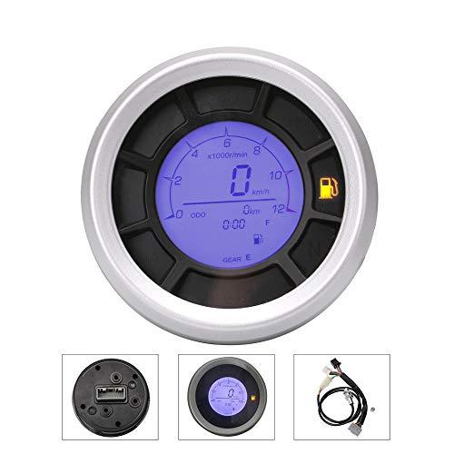 LIDAUTO LCD Motorrad Digital Tachometer Kilometerzähler 8-18V Universal Zubehör 2-4 Zylinder