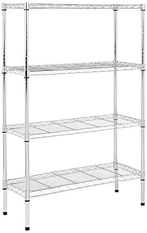 AmazonBasics 4-Shelf Shelving Unit-Chrome