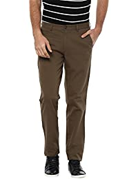 Peter England Men's Slim Fit Casual Trousers