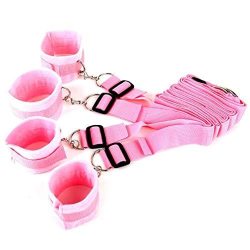 LRWTY Bondage-Leder-Bettwäsche des weiblichen Geschlechts und Paar-Sex-Assistent-Verband ( Color : Pink )