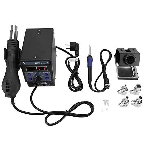 Digitale Entspannungsstation 700 W, 2 in 1 Professioneller Lötstation Dissalator Pistole Heißluftpistole SMD Display Digital LCD 220 V
